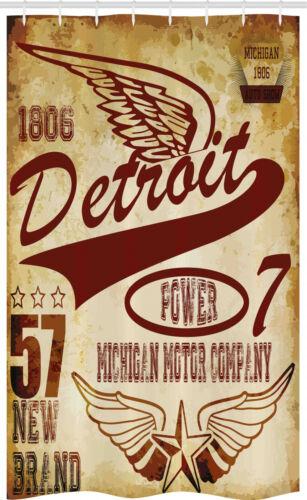 Detroit Schmaler Duschvorhang Vintage Michigan Auto