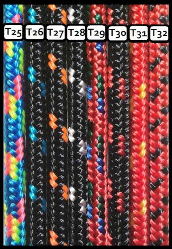 Colores variados Pulsera unisex cuerda náutica y cierre ancla A medida.