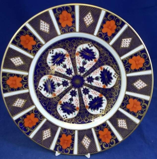 Royal Crown Derby OLD IMARI Dinner Plate 1128 Round Backstamp GREAT CONDITION