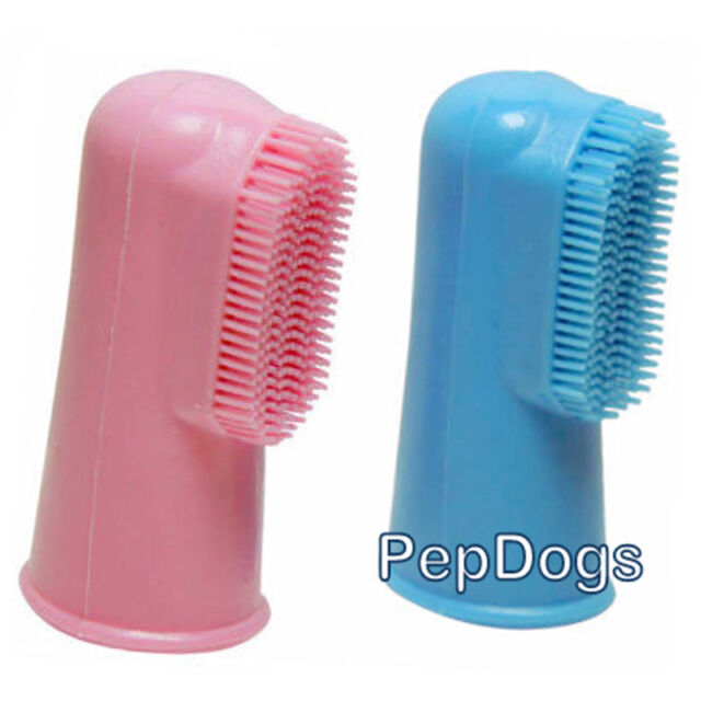 Dog Soft Finger Toothbrush Pet Oral Dental Brush Helps Reduce Plaque & Tartar