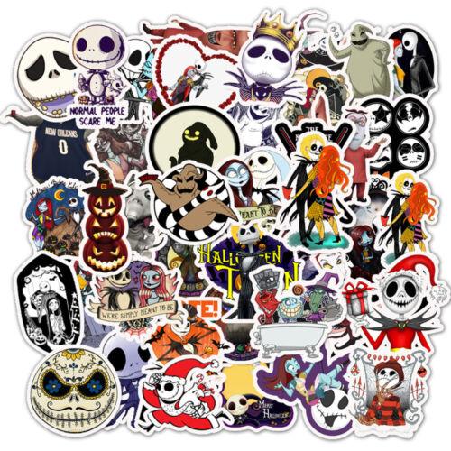 50Pcs Halloween Tim Burton/'s Corpse Bride Vinyl Stickers Pack for Luggage Laptop
