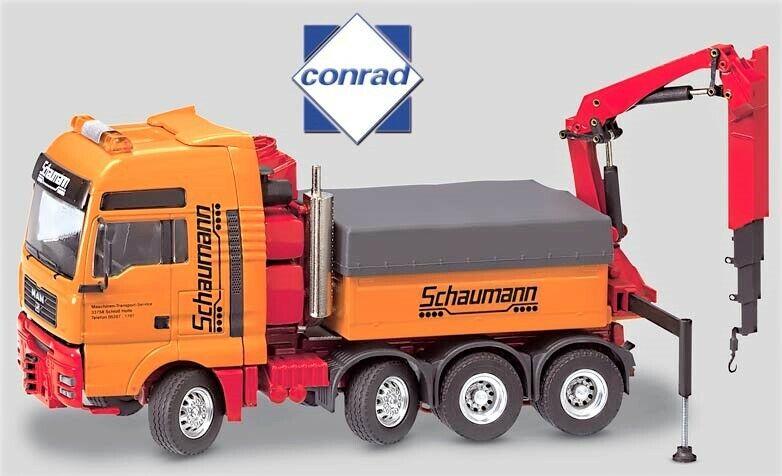 Conrad 66002-02 MAN TG-A XXL pesado Haul Tractor con Grúa-Schaumann 1 50 Diecast