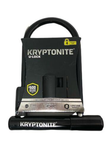 """KRYPTONITE Bike Lock u-lock 12 mm En Acier Durci Manille 4/"""" x 8/"""" niveau 4 de sécurité"""