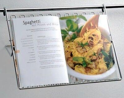 Wesco Relingsystem Kochbuchablage Chrom-matt Küchenreling Kochbuchhalter 16mm