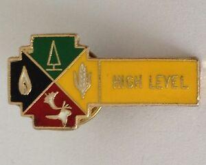 High-Level-Canadian-Pin-Badge-Rare-Vintage-J1