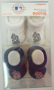 759ce46dc4c42 Details about ST LOUIS CARDINALS BOOTIE BOOTIES BABY INFANTS SHOES STITCH  AKM MLB BASEBALL NEW