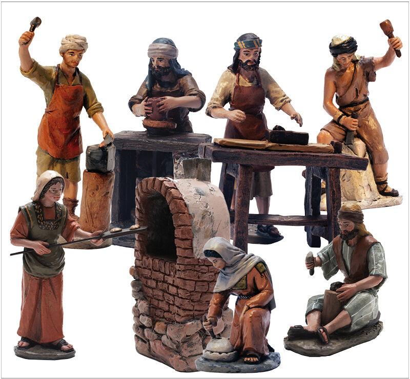 Edizioni DelPrado -IL PRESEPIO-7 figure artigiani, + forno  BEL957