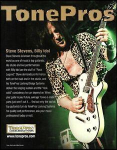 Steve Stevens TonePros guitar bridge systems 2018 advertisement 8 x 11 ad print