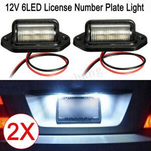 2-White-LED-Licence-Number-Plate-Lights-Lamps-RV-Trailer-Truck-Ute-Boat-Caravan