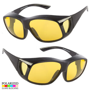 e3ee91e7f70 Image is loading POLARIZED-FIT-OVER-SUNGLASSES-COVER-ALL-GLASSES-DRIVING-