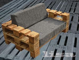 lounge gartenm bel 2 sitzer palettenm bel terrasse vintage design balkon ebay. Black Bedroom Furniture Sets. Home Design Ideas