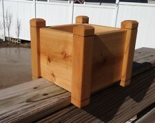 "Cedar Flower 6"" Planter Deck Rail Garden Box Pot Herb Planter"