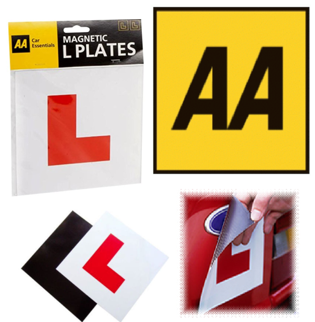 4 Packs Fully Magnetic Red L Plates for New Learner Drivers Stick On Adhesive L License Plate for Car Motorbike L Plates