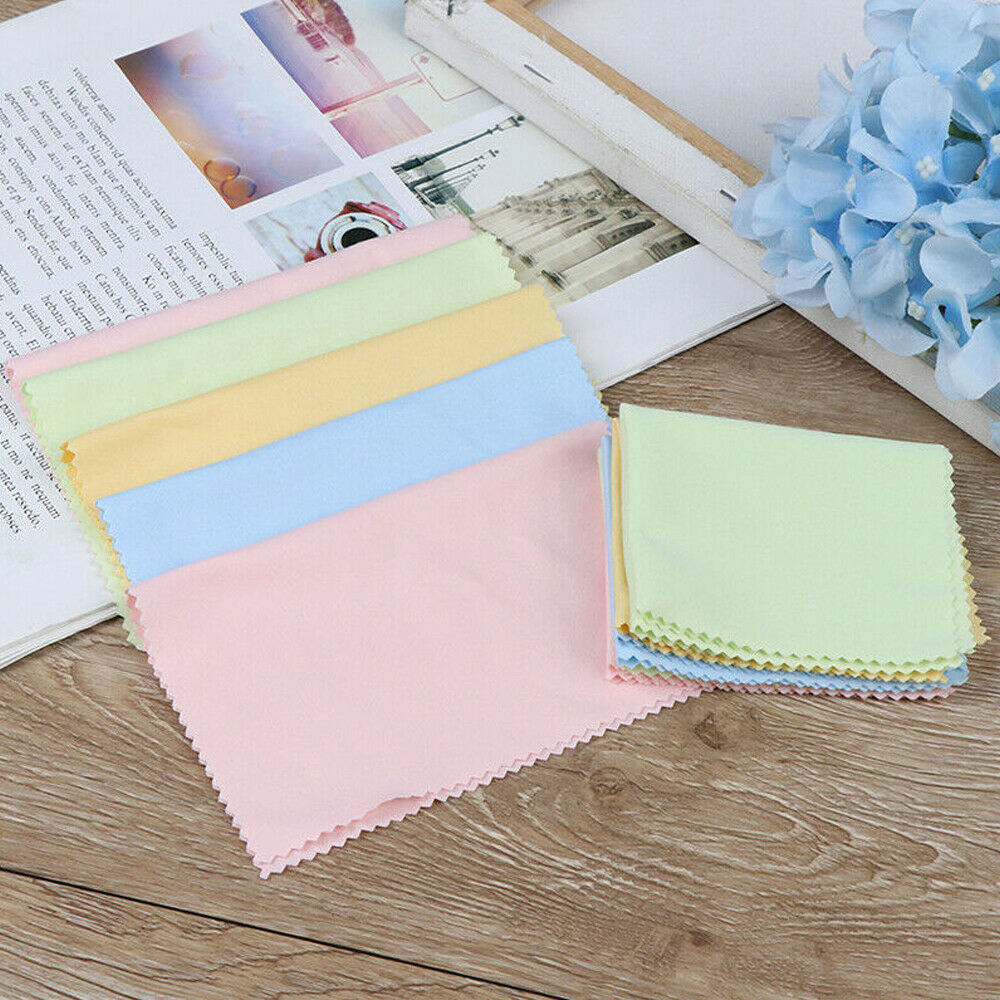 10× Microfiber Cleaner Cleaning Cloth For Eye Glasses Camera Lens Phone Screen