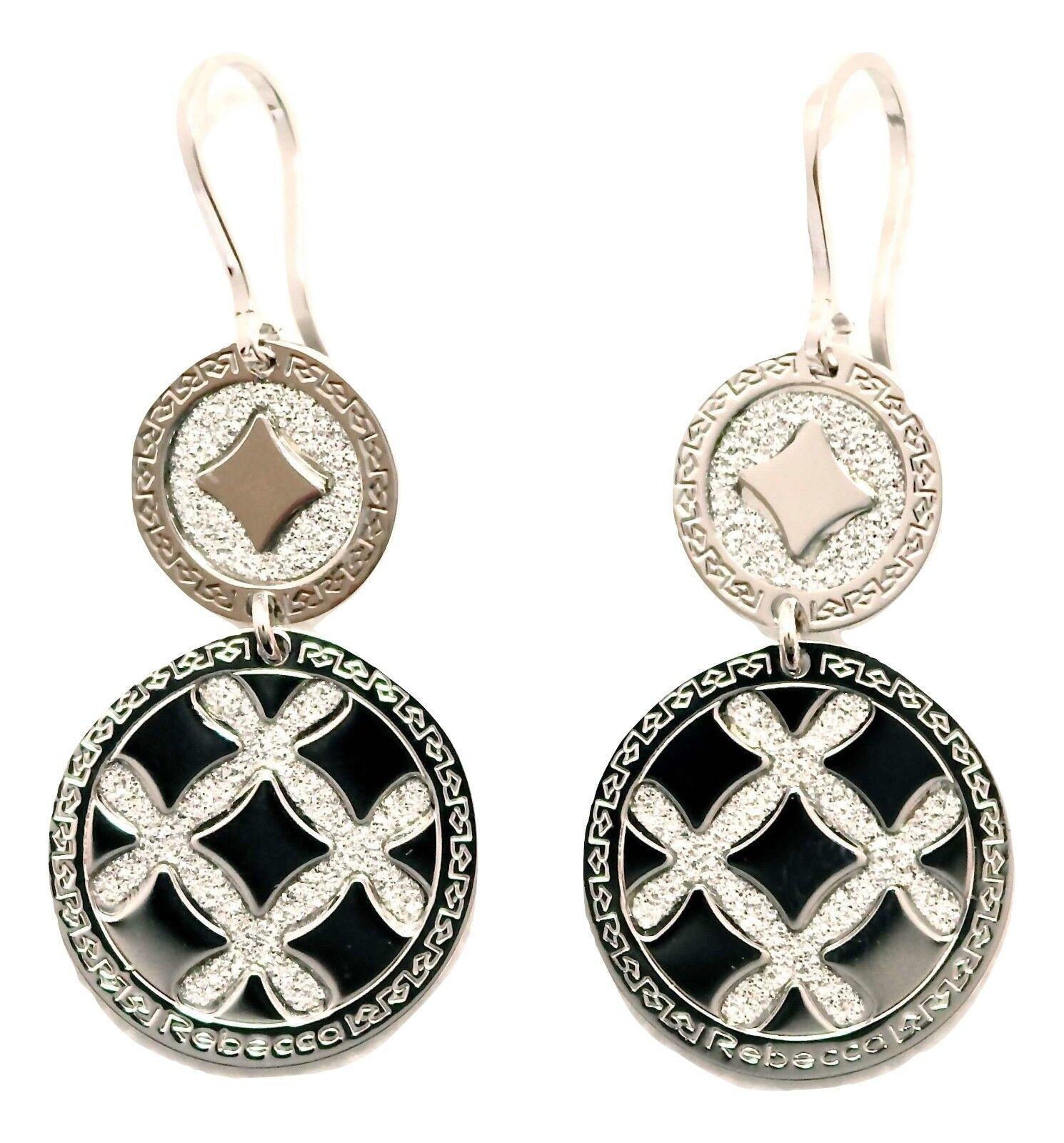 Rebecca Dual Circles Earrings in Stainless Steel