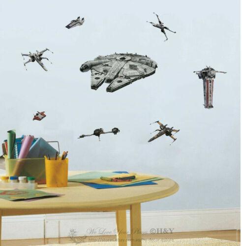 Starwars  Last Jedi Resistance Vehicle Wall Stickers Boys Decal Kids Room Decor