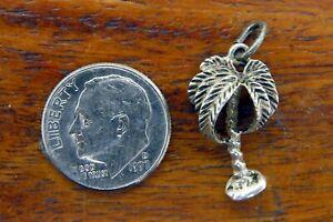 Vintage-sterling-silver-TROPICAL-PALM-TREE-FLORIDA-HAWAII-BEAU-BEAUCRAFT-charm
