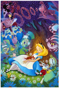 Disney-Fine-Art-Limited-Edition-Canvas-Dreaming-In-Color-Alice-In-Wonderland