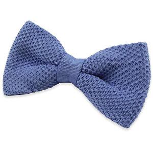 NOEUD-PAPILLON-tricot-maille-bleu-azur-pour-homme-Men-blue-azur-Bowtie