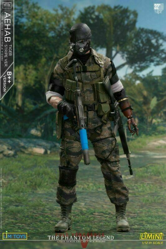 LIMTOYS LIMINI AEHAB 1 12th 6  Solid Snake Ismael B++Ver Action Figure Model Toy