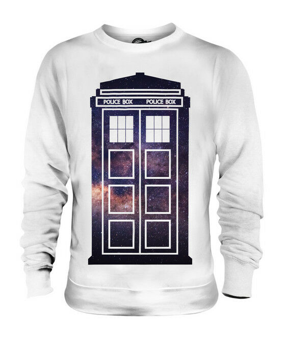 SPACE POLICE BOX UNISEX SWEATER  TOP GIFT SPACE