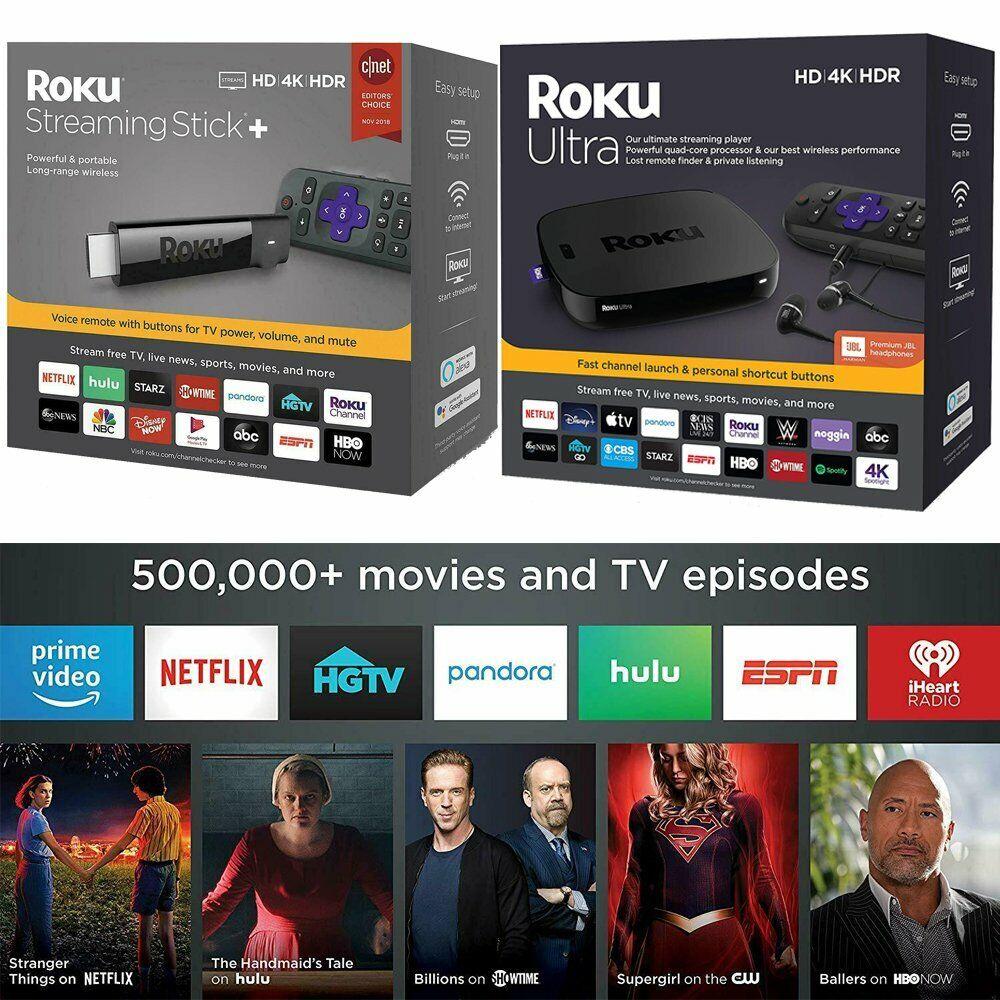 Roku StreamingStick Roku Ultra 4K Streaming Media Player with Headphones jbl New headphones jbl media new player roku streaming streamingstick ultra with
