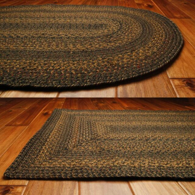Country Jute Braided Area Throw Rugs Oval Rectangle 20x30 8x10 M