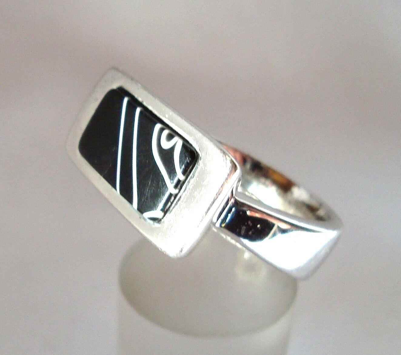 Reizvoller Pierre Lang Ring mit Einlage versilgreen Fingerring   cw 167