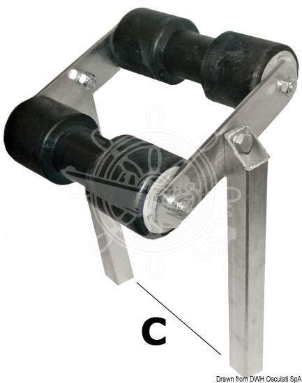 Osculati Bewegliche Mittelrolle Rohrquerschnitt 30 x 30 mm