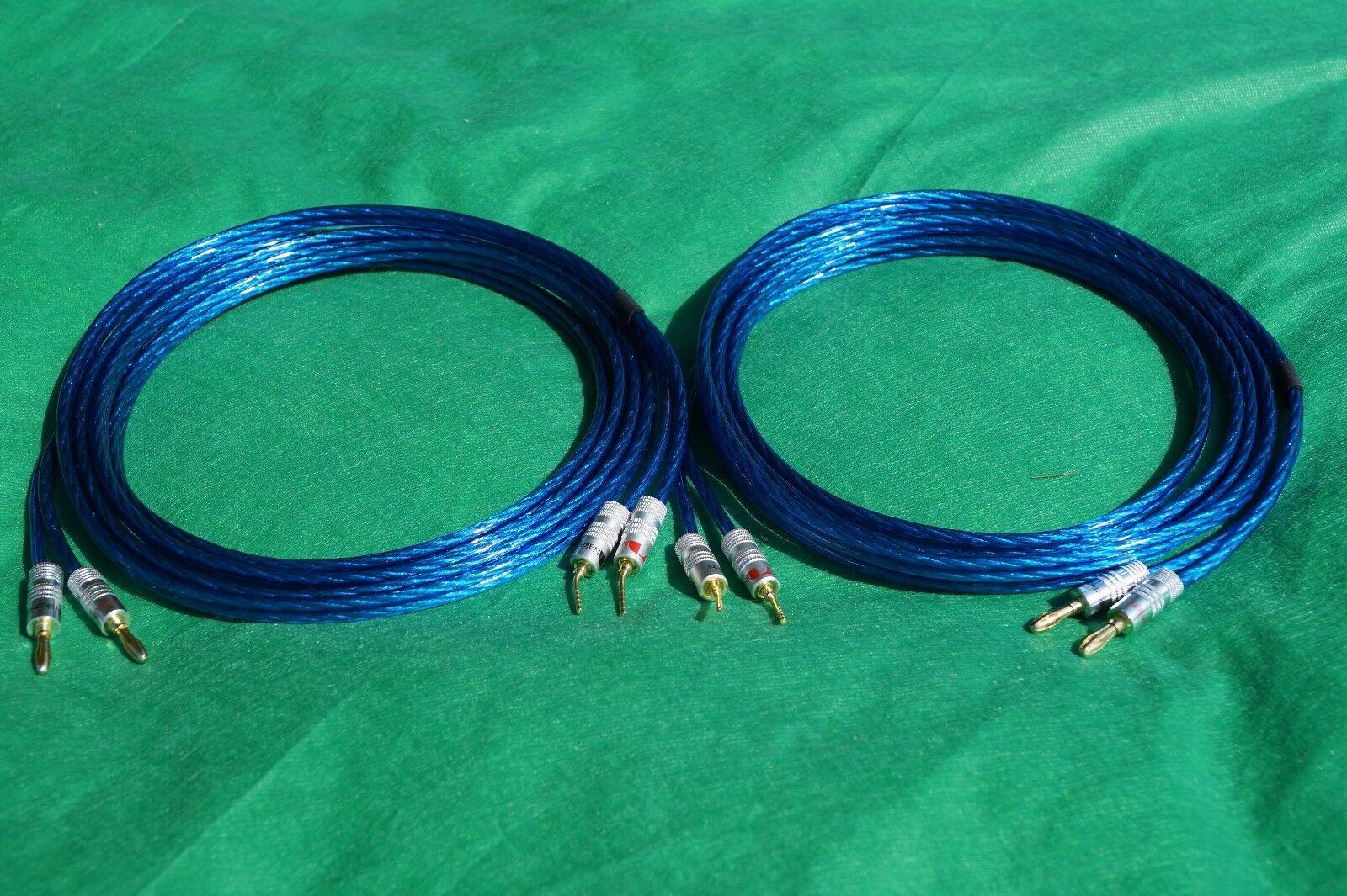 Samurai True 10 Gauge Wire Speaker Cable Banana to Angle Pin Plugs ...