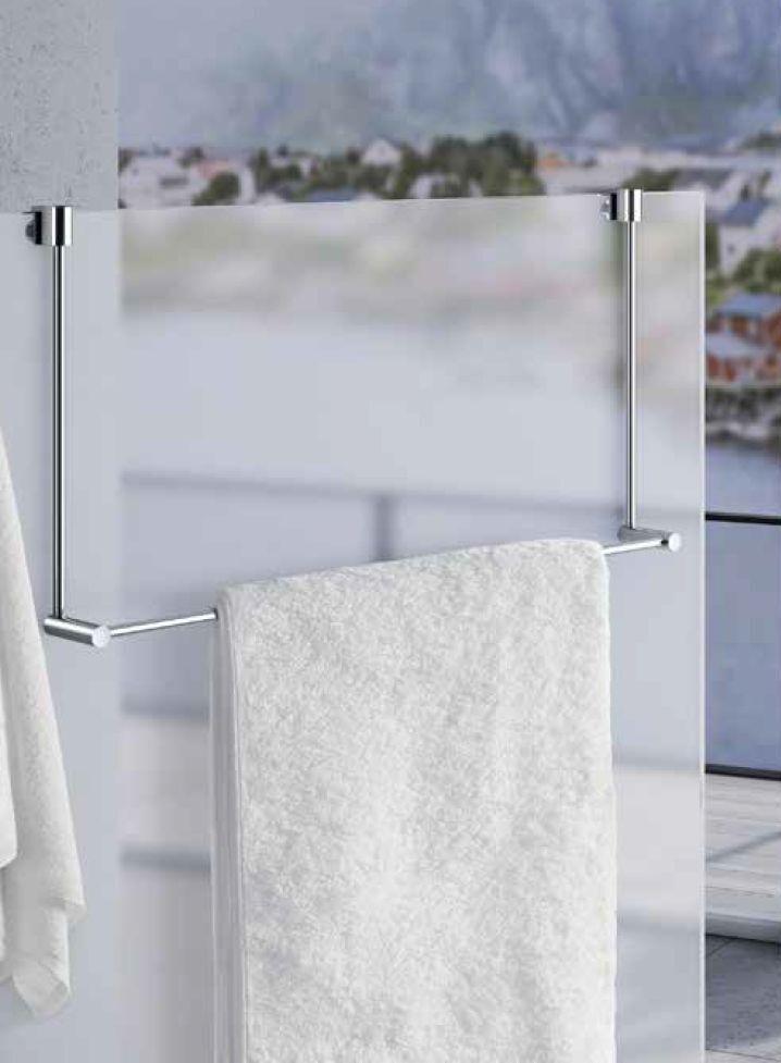Smedbo Sideline Handtuchhalter für Glasduschwand DK3101