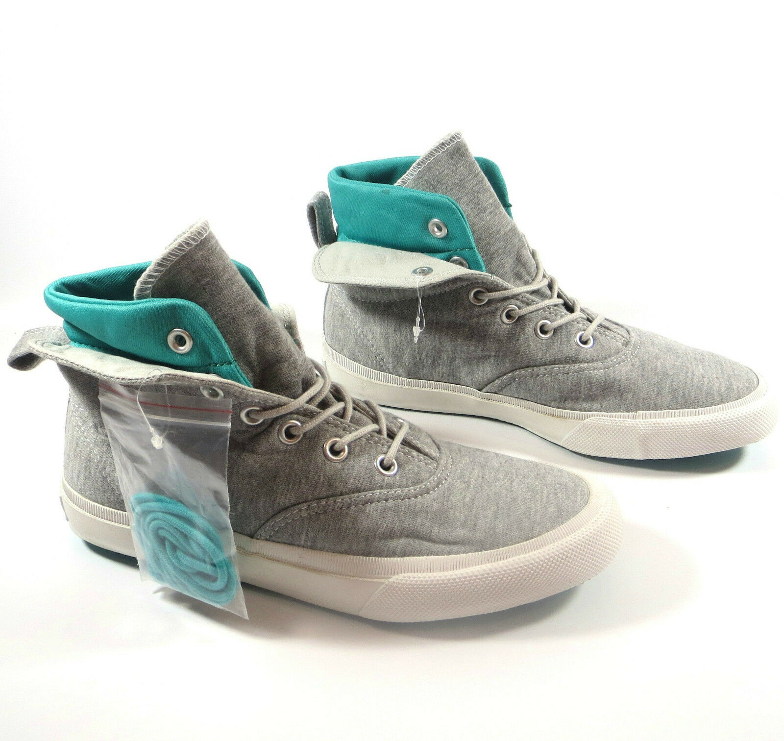 Men's CONVERSE Bll Star GREY GREEN SKID GRIP MID HI TOP Trainers Boots UK SIZE 9