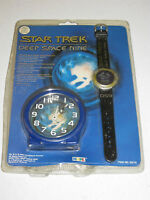 RARE 1994 Star Trek Deep Space Nine Collectable Watch And Clock Set DS9  NEW