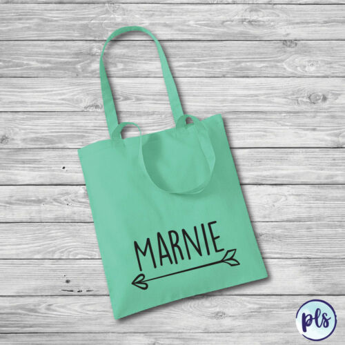 Personalised 100/% Cotton Tote Bag With Cute Arrow