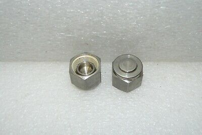 """SS-810-P Lot of 2 Used Swagelok 1//2/"""" Tube Fitting Plug 316 SS"""