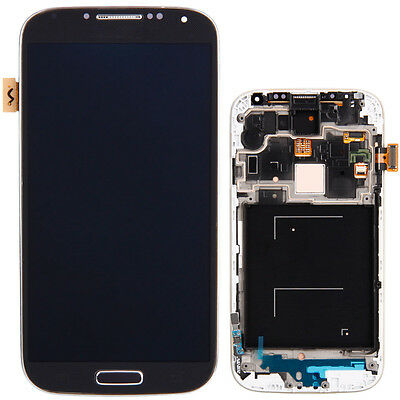 Blue LCD Touch Screen Digitizer with Frame for Samsung Galaxy S4 i9500