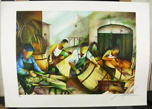 Raymond-Poulet-Tonnelier-Carpenter-Barrel-Wine-1980-Print-Signed-Num-44-250