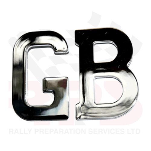Chrome Acier Inoxydable Autoadhésif Gb lettres