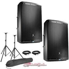 "JBL EON615 15"" Powered Active PA Loud Speakers Bundle - Live Sound Club DJ PA"