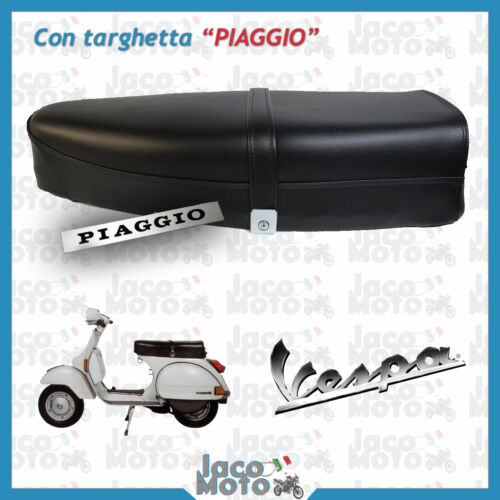 Saddle VESPA PX PE 125 150 200 First Series with PRINT PIAGGIO and frame IRON