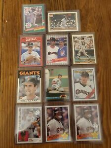 Will-Clark-1986-Topps-Traded-Rookie-24T-Plus-10-card-lot-San-Francisco-Giants