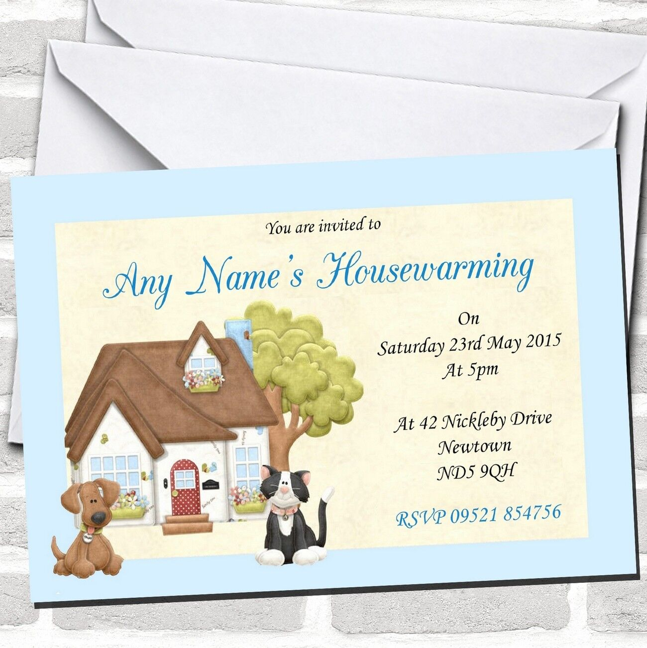 Dog And Cat Housewarming Housewarming Housewarming Party Invitations a0eeff