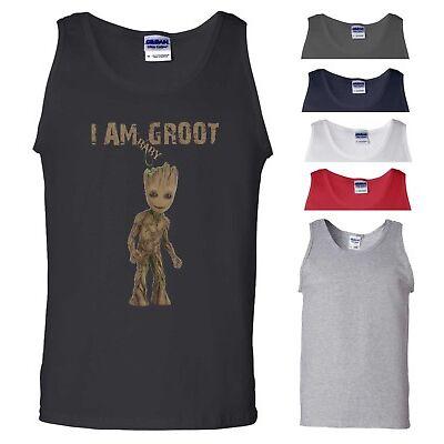 Baby Groot Vest Marvel Avengers Infinity War GoTG Iron Man Gift Men Tank Top