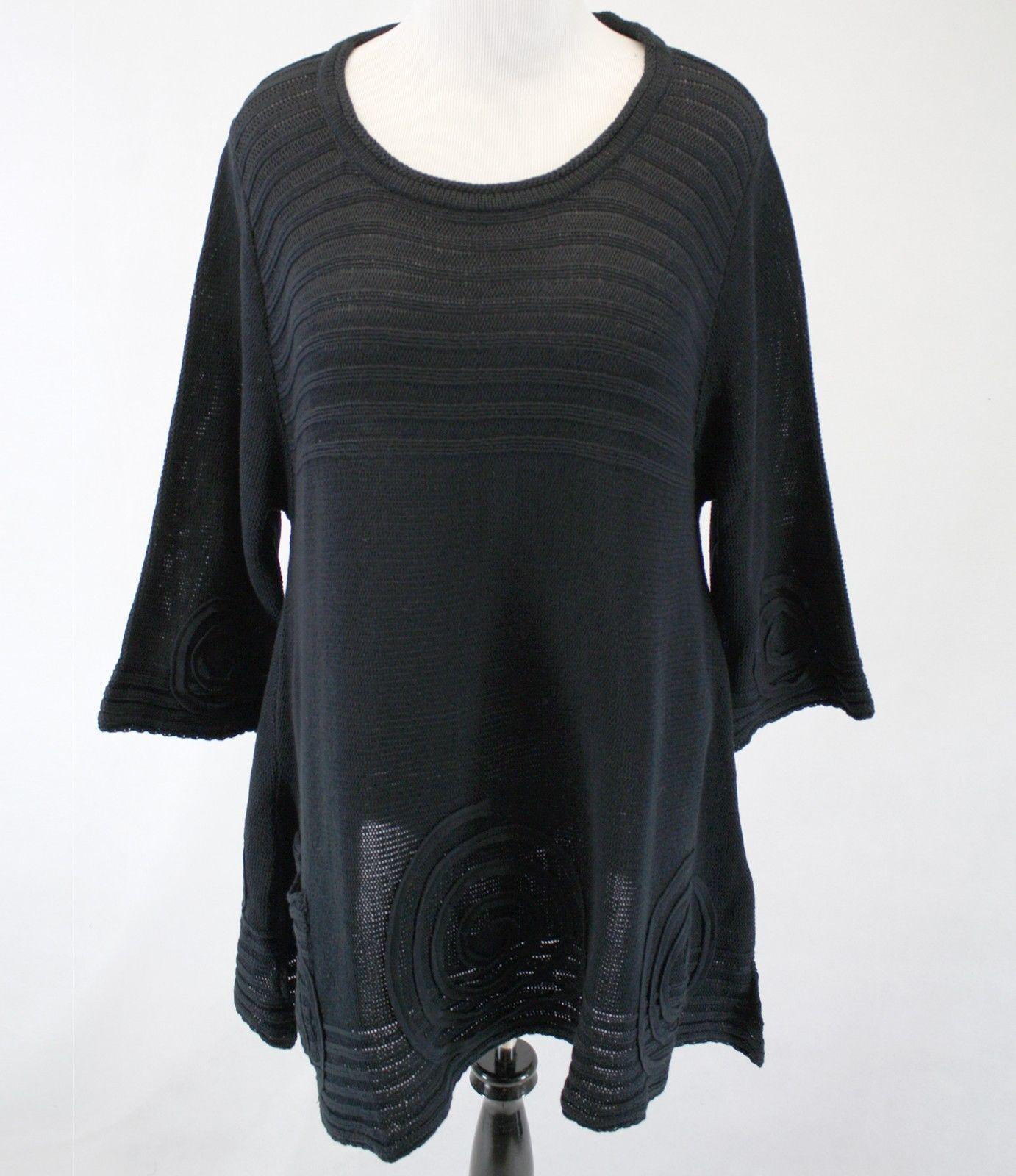Nuevo Nuevo con  etiquetas Knithouse por Maria Dahlhoff en Capas Suéter azulsa Talla Grande 3 (1X)  respuestas rápidas