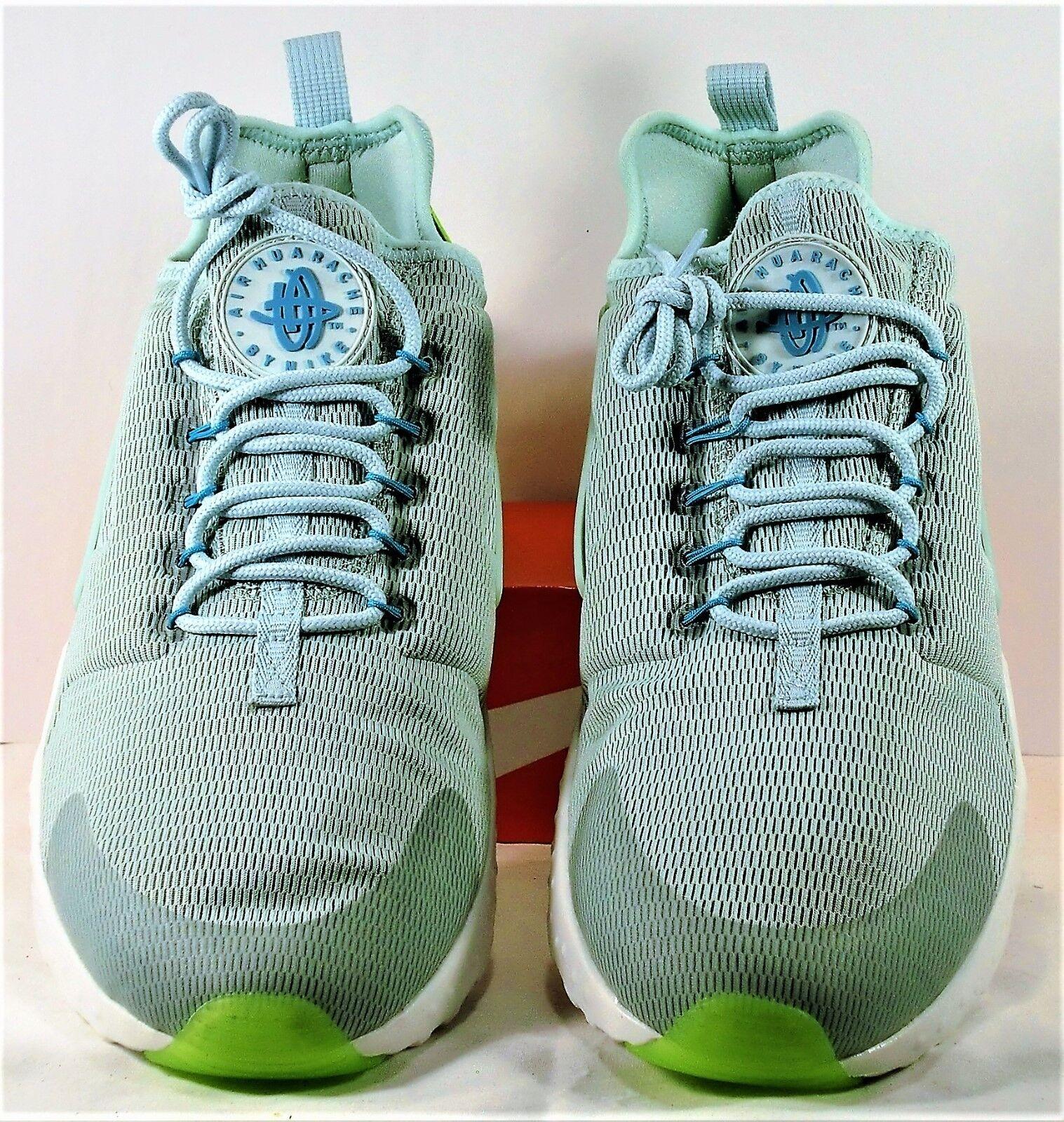 1e3b87214ea8 ... Nike Air Huarache Run Run Run Ultra Green   White Women Running Sz 12  NEW 819151 ...