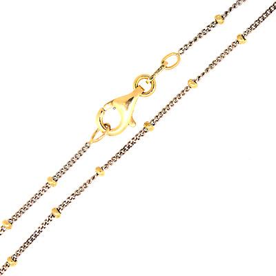 Fantasie Anhänger 585 Gold bicolor rhodiniert diamantiert 0,6g 27mm 8mm 8mm