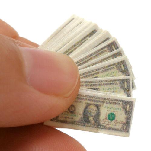 $1Bankno/_sh 1//12 Scale A bundle Miniature Play Money Us $100