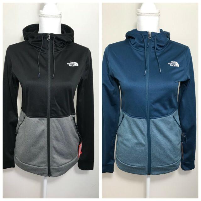 The North Face Women Tundra Hoodie Full Zip Fleece 100 in Black S-XL BNWT