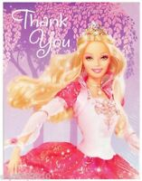 Barbie 12 Dancing Princesses Thank You Notes (8) Birthday Party Supplies Cards