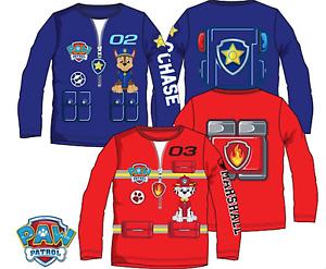Disney Garçons Paw Patrol Caractères En Coton Manches Longues T. Shirt Top 3 4 5 6 Ans-afficher Le Titre D'origine